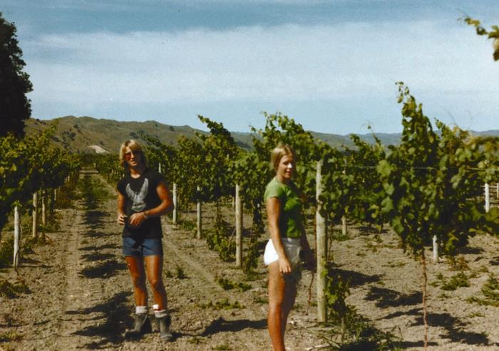 Annabel Langbein as a teenager in vineyards in Gisborne