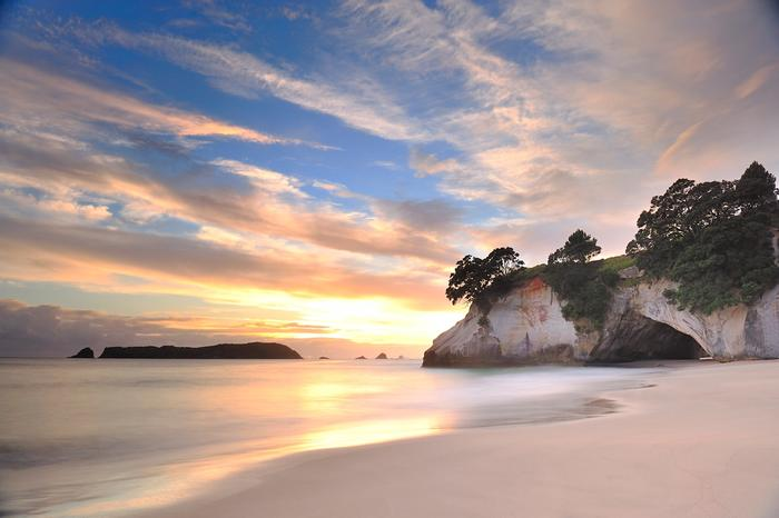 Cathedral Cove at sunrise
