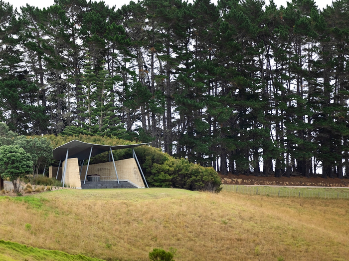 The Rore Kāhu visitor centre at Rangihoua Heritage Park at Waitangi