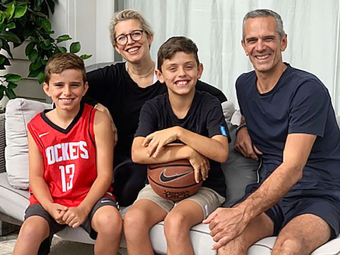 Josh and Helen Emett with their two sons Louis and Finn