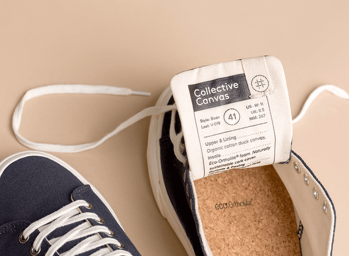 Collective Canvas sneakers on a beige background