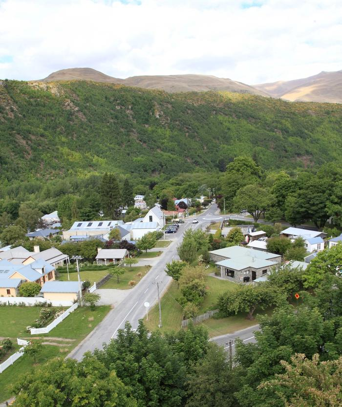 Arrowtown from a hill