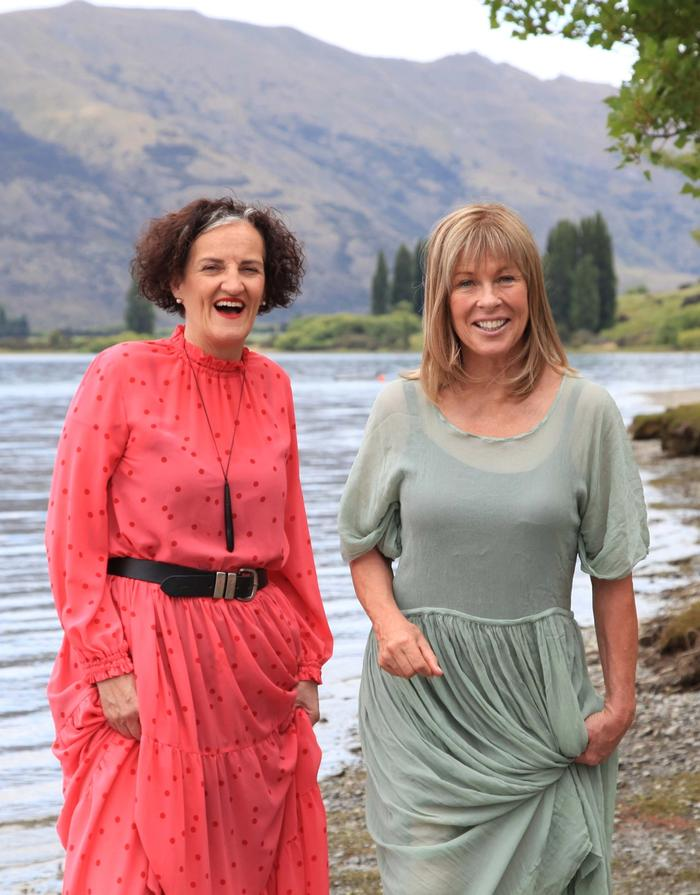 Sarah-Kate Lynch with Annabel Langbein