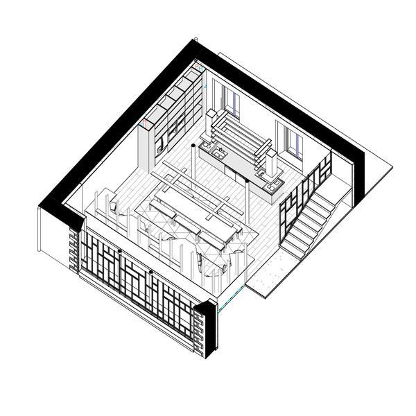 SOUFFLE - Elévation salle-à-manger & cuisine