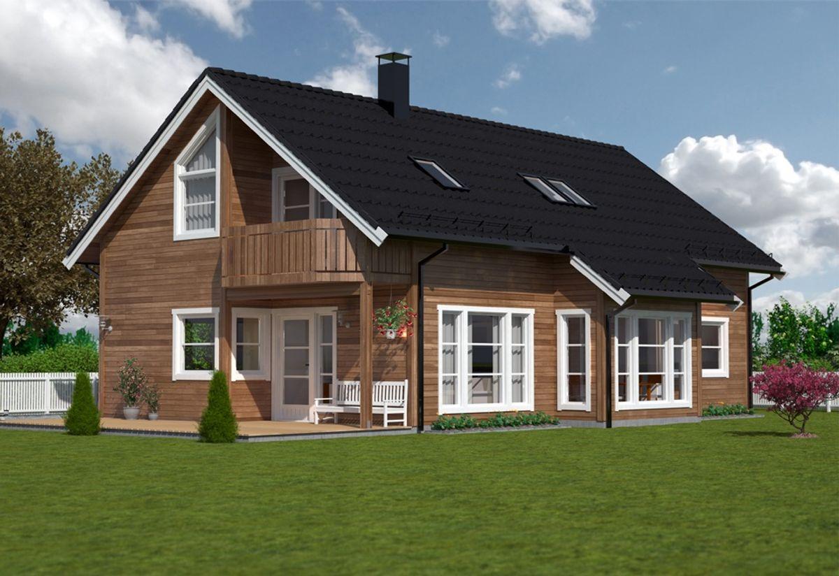Hustypen Hellandshornet fra Vestlandshus har livsløpsstandard, hvilket betyr mulighet for rimelig lån fra Husbanken.