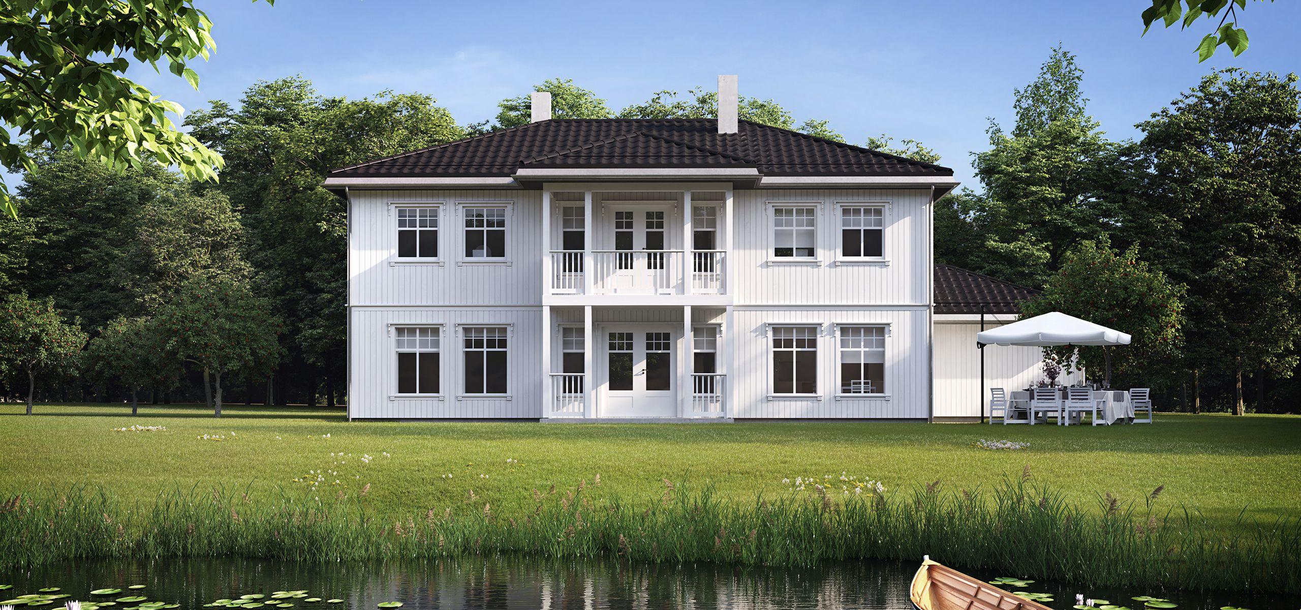 Husmodell Herskapelig fra Hellvik Hus er en stor bolig i herskapelig stil.