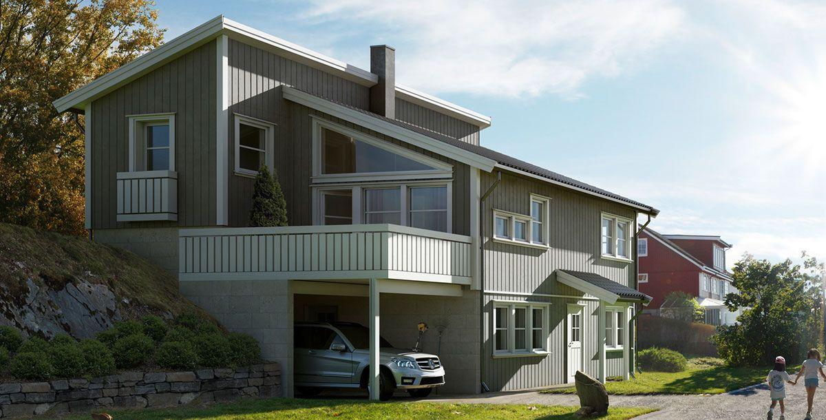 Hustypen Fredrikstad fra Horten Hus er drømmeboligen for deg som er på jakt etter smarte løsninger.