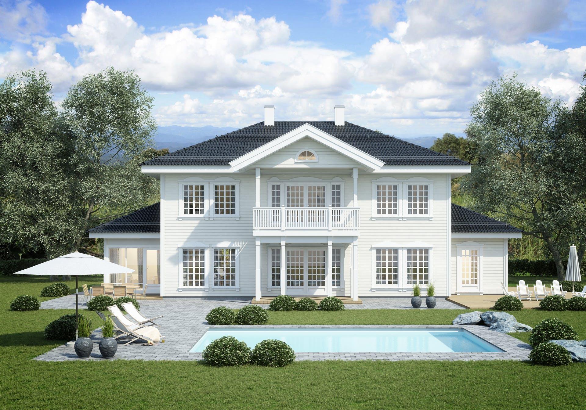 Bilde av husmodellen Villa Welhaven av ferdighusleverandøren Norhus