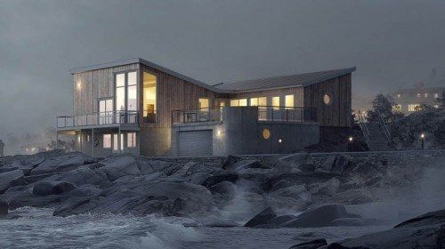 Hustypen Stavanger fra Horten Hus er en modernistisk bolig med en fasade som utfordrer.