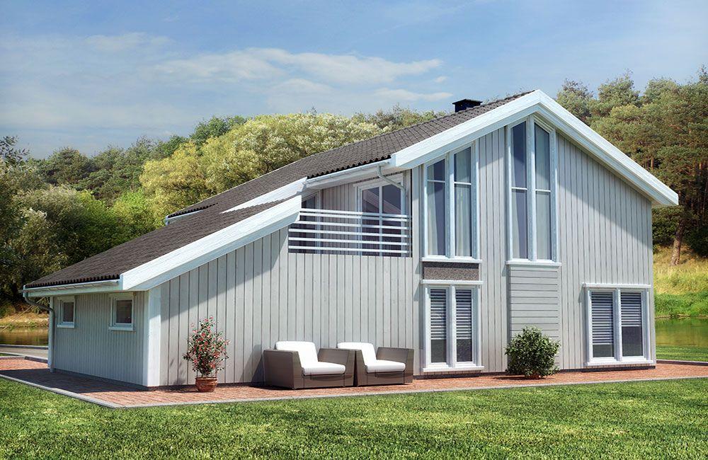 Hustypen Coruna fra Blå Bolig har flotte moderne fasader og gode planløsninger.