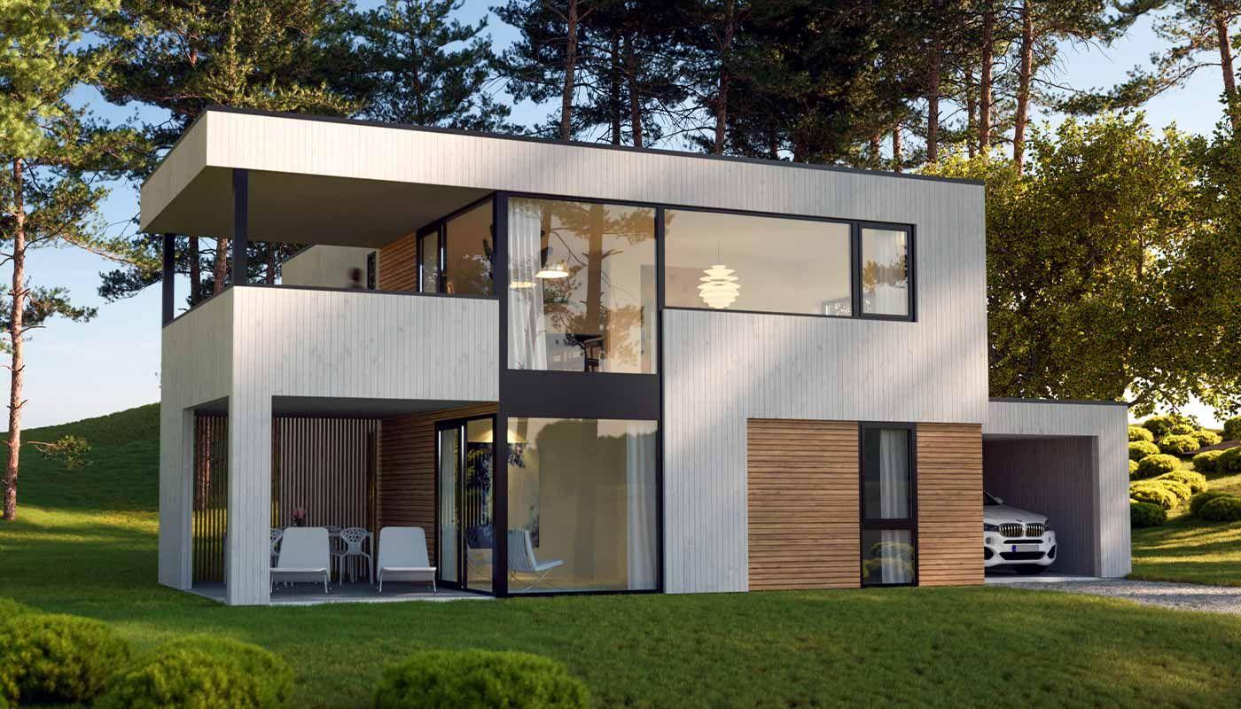 Bilde av husmodellen 2003 fra Fjogstad Hus