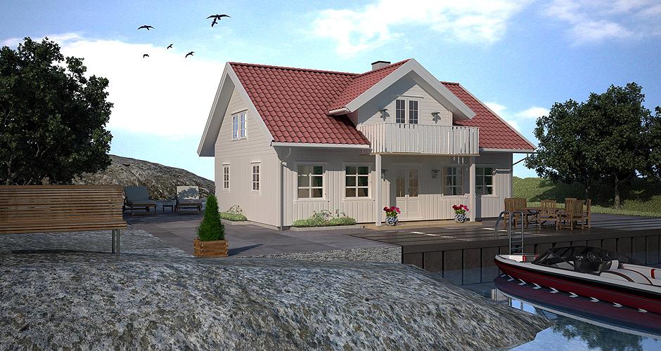 Bilde av husmodellen Kragerø fra Drammenshus & Hytter