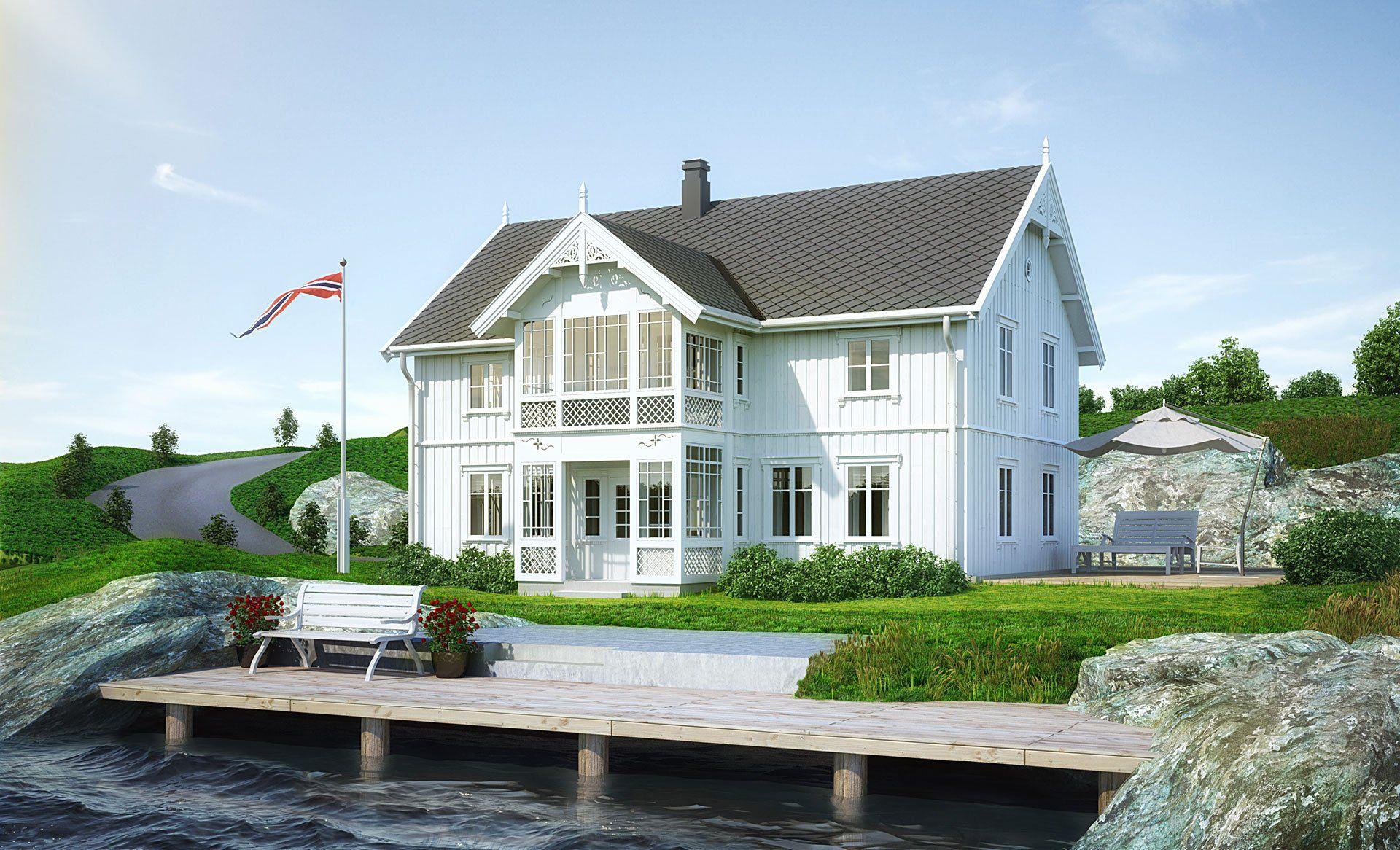Bilde av husmodellen Svalen fra Norgeshus