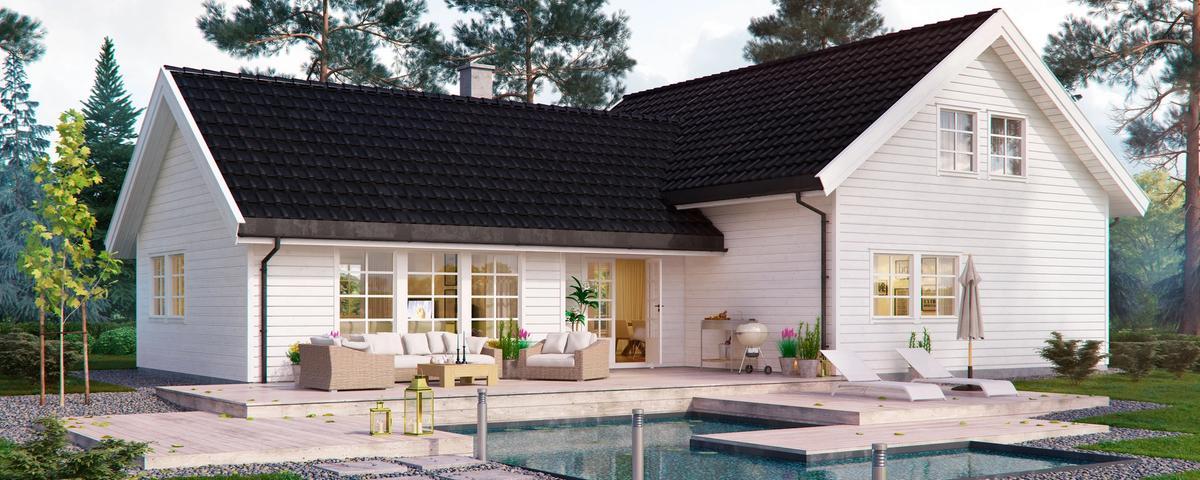 Bjørkeng er et akkurat passelig stort hus for de aller fleste, med funksjonelle romløsninger.