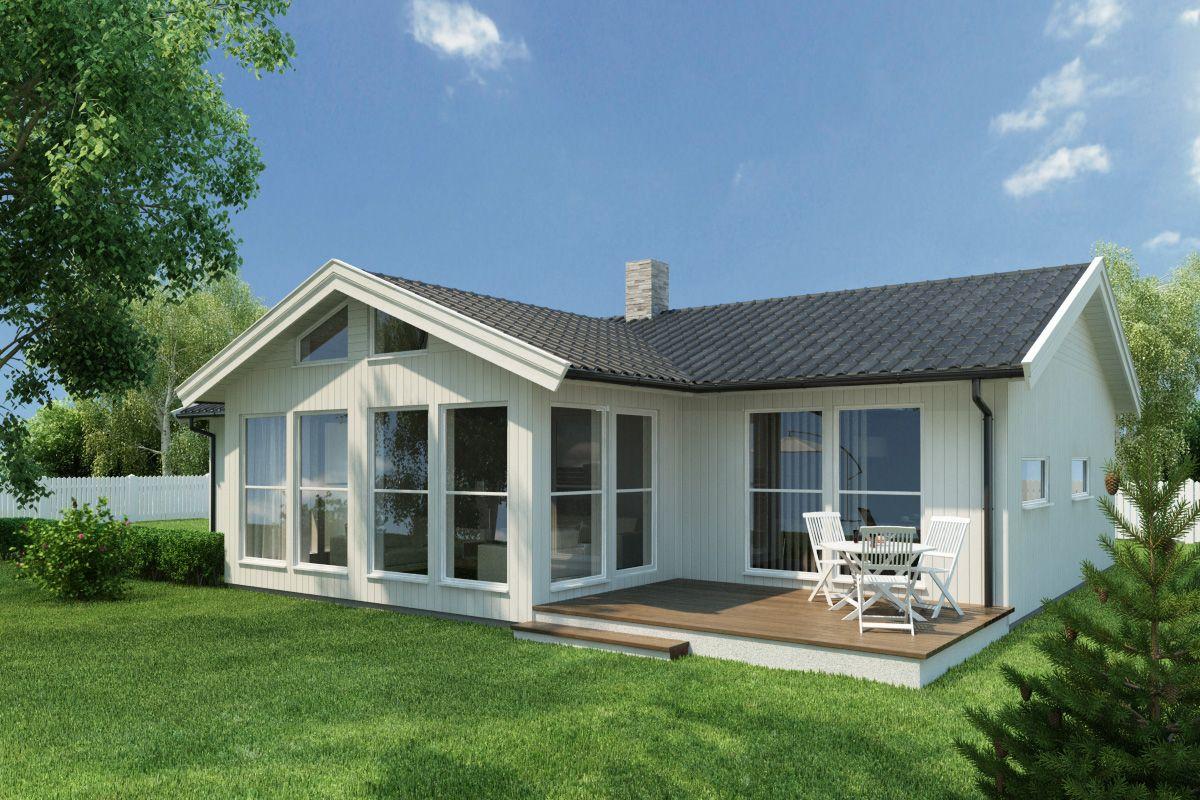 Bilde av husmodellen Åssiden fra Drammenshus & Hytter