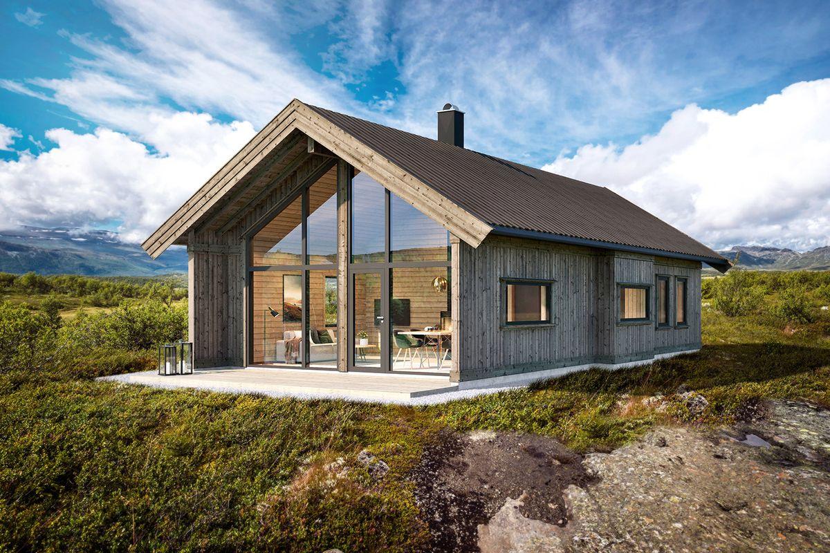 Bilde av hyttemodell 1225 fra Eiken Hytter