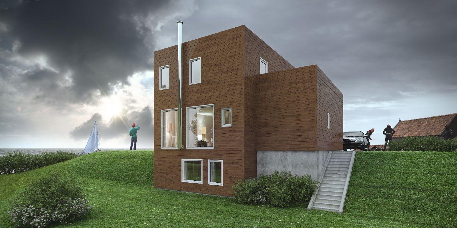 Hustypen Villa Lilla fra Nordbohus er en designvilla for små tomter som krever mindre areal enn tradisjonelle villaer.