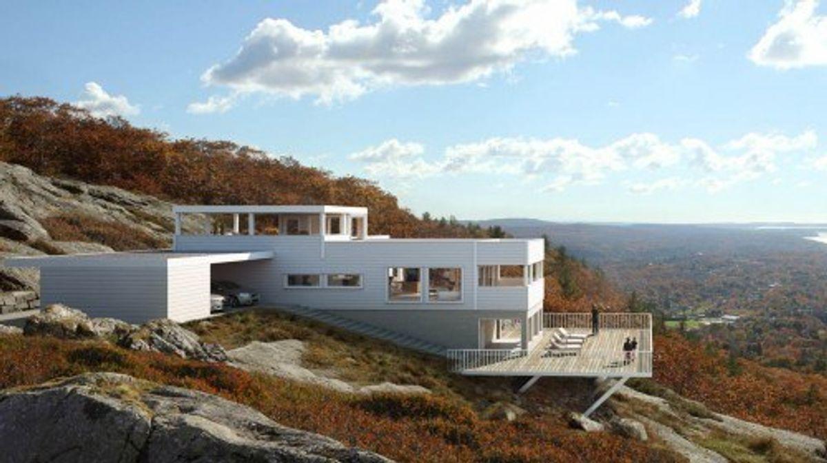 Hustypen Bergen fra Horten Hus er selve definisjonen på majestetisk modernisme med gjennomlys.