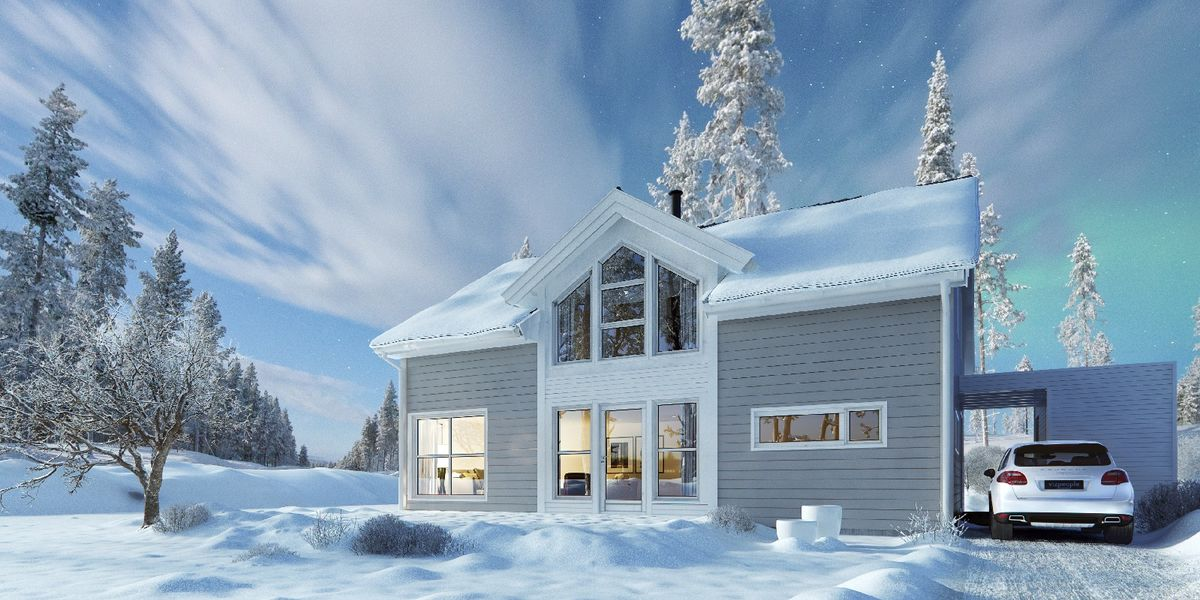 Hustypen Sans fra Nordbohus er et funksjonelt og trivelig hus med godt utnyttet areal.
