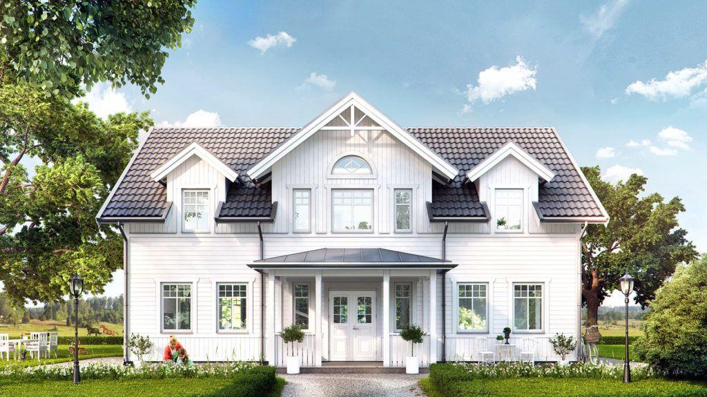 Hustypen Spoven fra Fiskarhedenvillan er et hus med ordentlig herregårdsfølelse og som vekker assosiasjoner til forrige århundrets arkitektur.