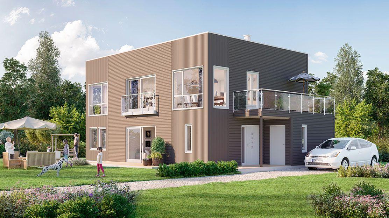 Hustypen Rubiks fra Hedalm Anebyhus er et moderne hus med rene linjer og luftige, gode rom.