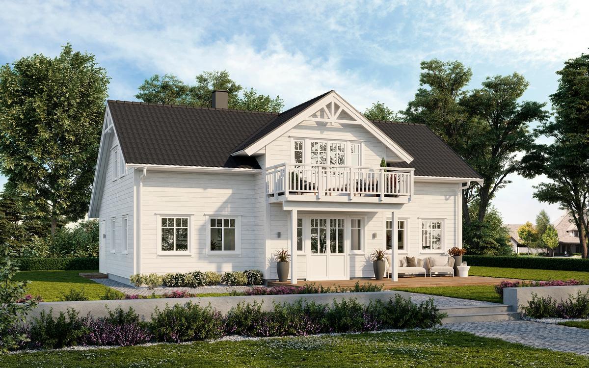 Bilde av husmodellen Alfa fra Norske Hus
