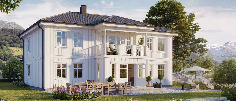 Husmodellen Raumarheim fra BoligPartner er et nostalgisk hus med god planløsning.