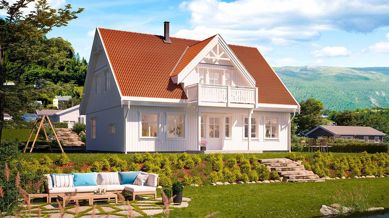 Hustypen Soleng fra Hedalm Anebyhus er et passe stort, funksjonelt trehus over to etasjer med god planløsning.