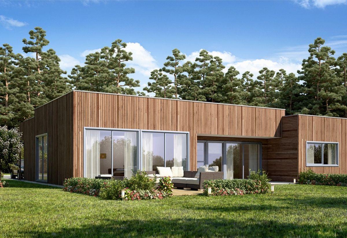 Hustypen Tua fra Vestlandshus har god og åpen planløsning, med meget romslige allrom som flyter i hverandre