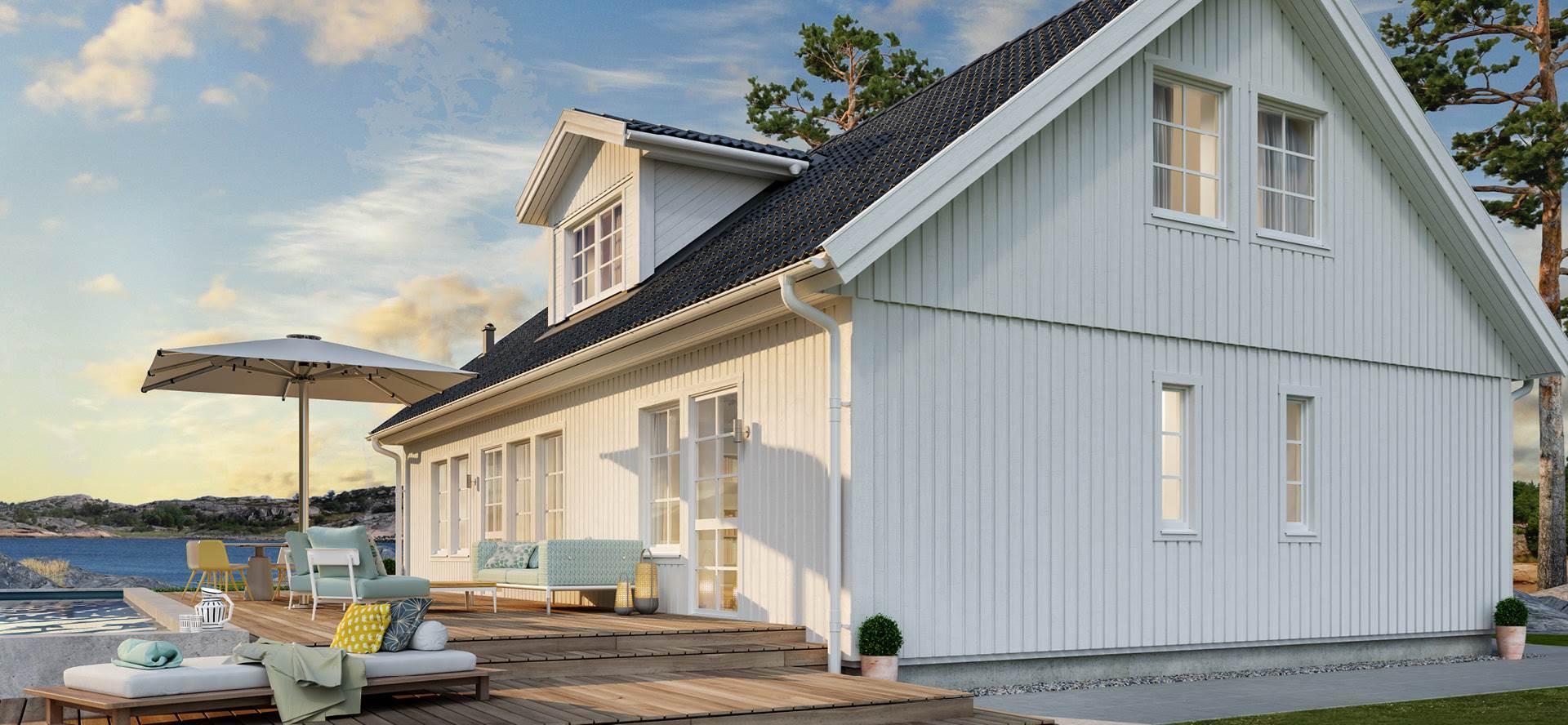 Husmodell Åse fra Älvsbyhus er et klassisk hus med fleksible løsninger.