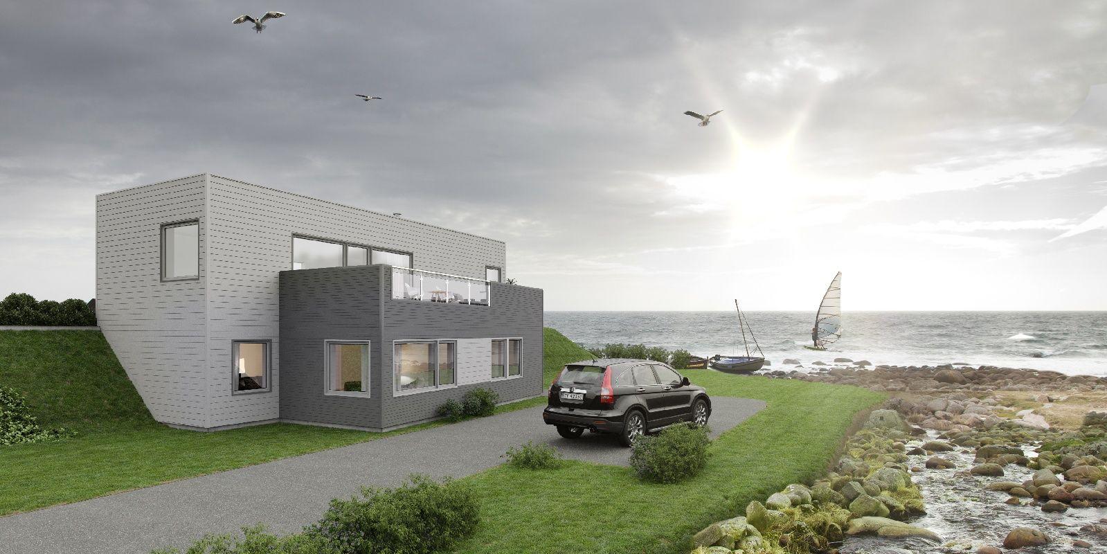 Hustypen Kontur fra Nordbohus er et praktisk og trivelig hus med tydelig funkispreg.