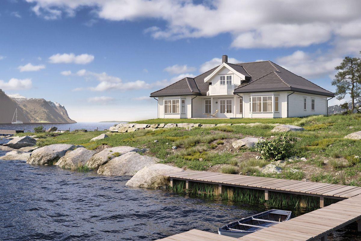 Den herskapelige hustypen Mohns Topp fra Vestlandshus har en innbydende planløsning som gir huset et intimt preg.