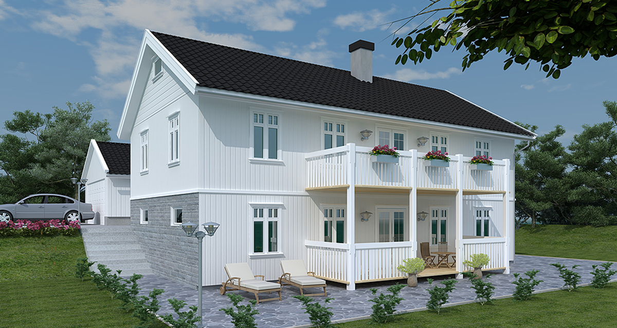 Bilde av husmodellen Grimstad fra Drammenshus & Hytter