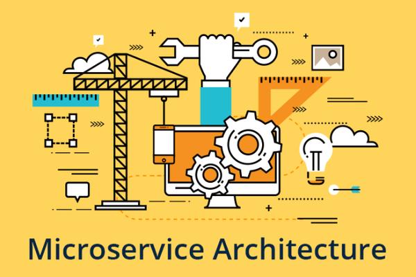 schéma d'une architecture microservice