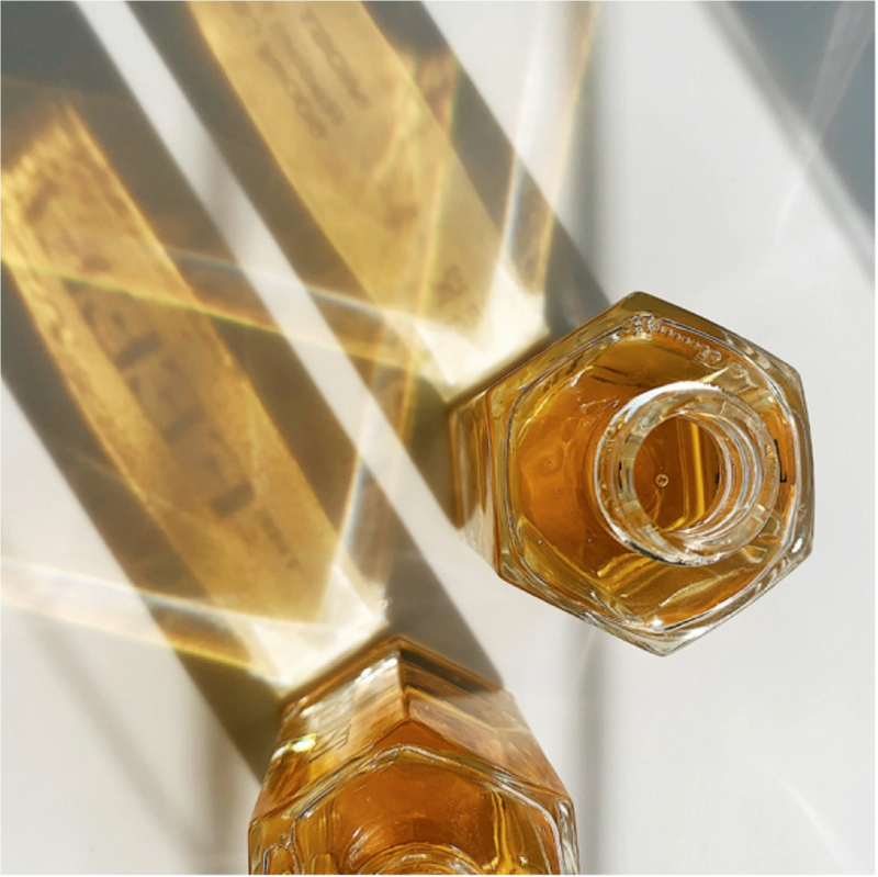 Aerial View of Most Wanted Facial Oil Packaging