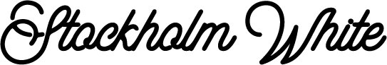 Stockholm White logo