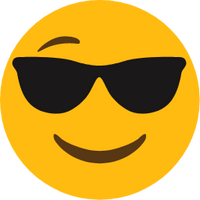 A happy emoji wearing shades