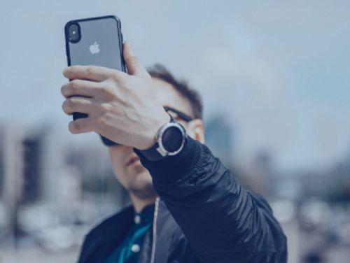 Man taking a selfie photo