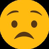 A sad emoji