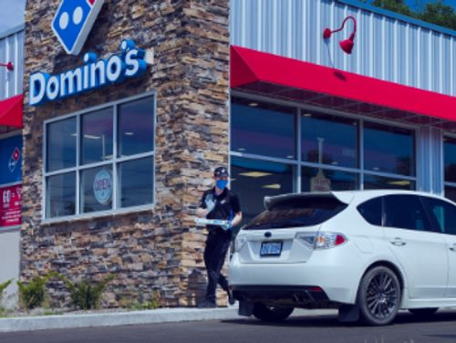 Domino's Pizza Car-side delivery