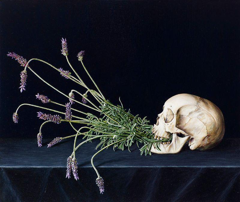 Vanitas Still Life with Lavender