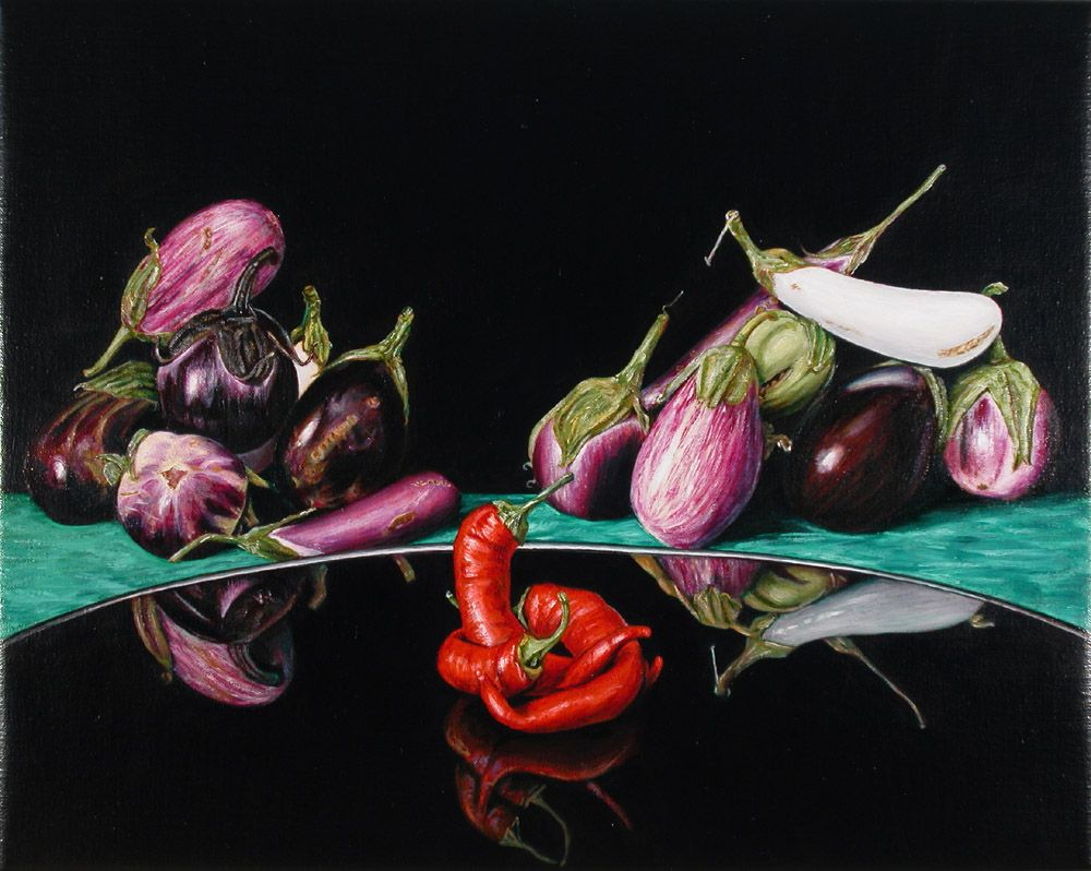 Still Life with Eggplants