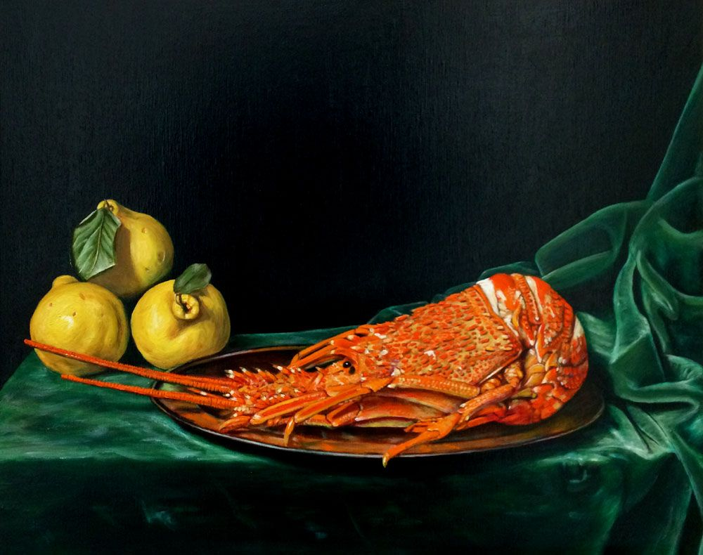 Still Life with Lobster and Quinces
