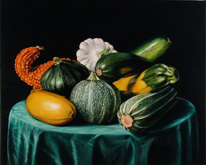 Still Life with Zucchinis