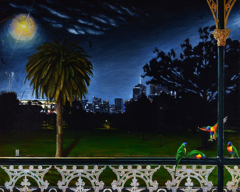 Jolimont Nocturne with Melbourne Cricket Ground and CBD