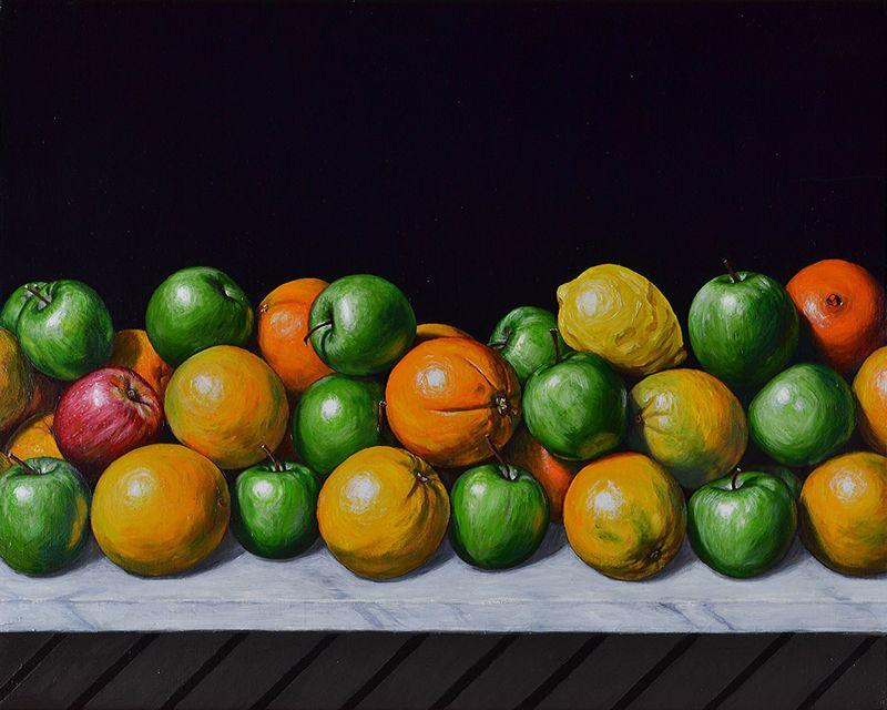 Still Life comparing Apples to Oranges