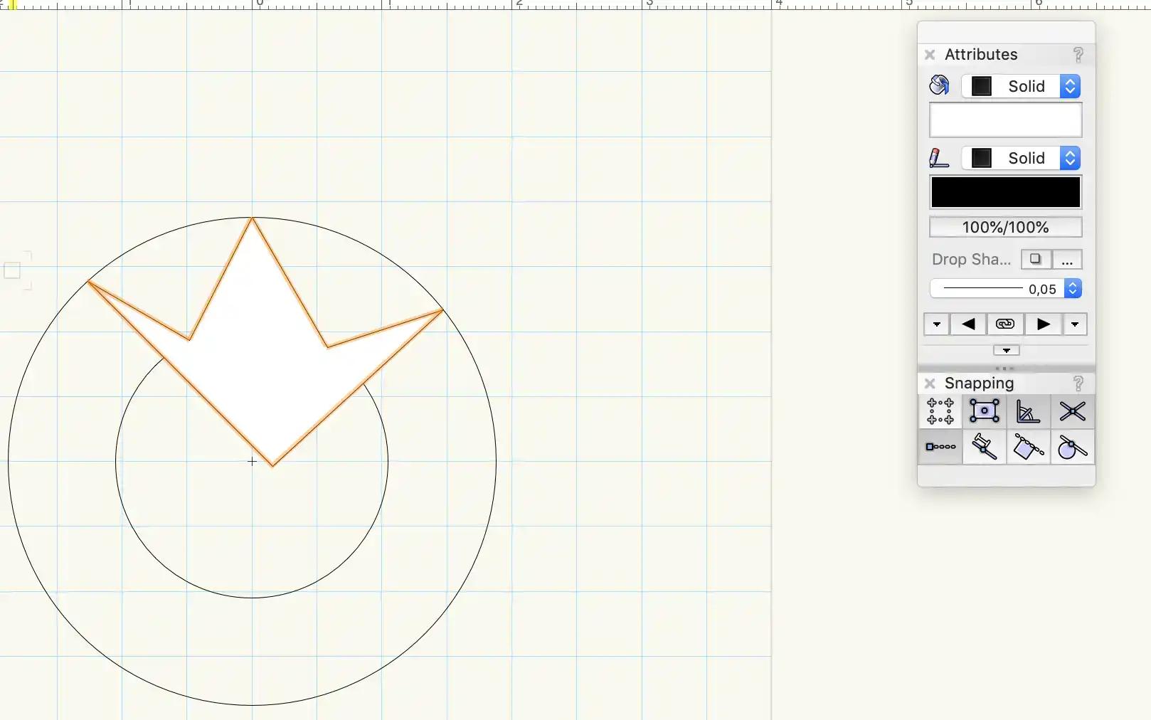 Vector tool in vectorworks