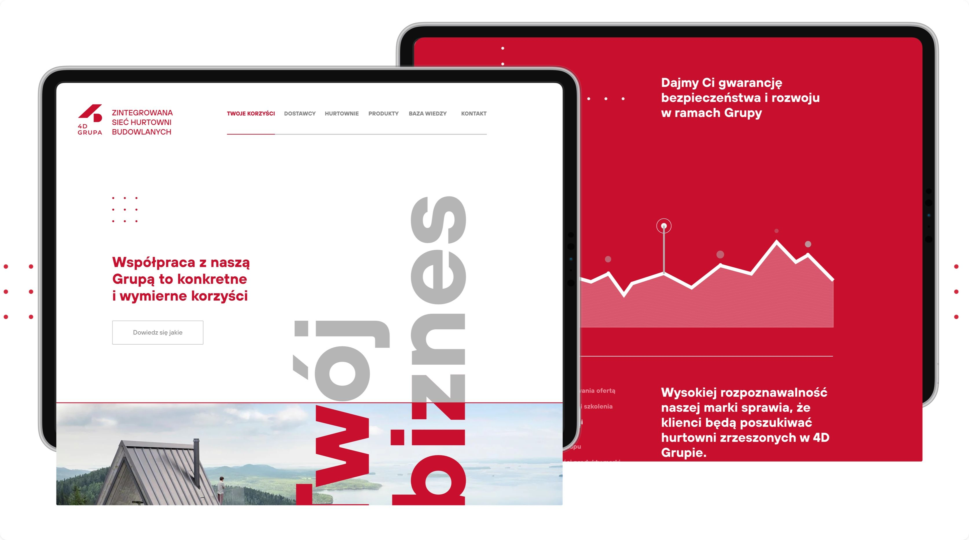 4D Grupa example website screens