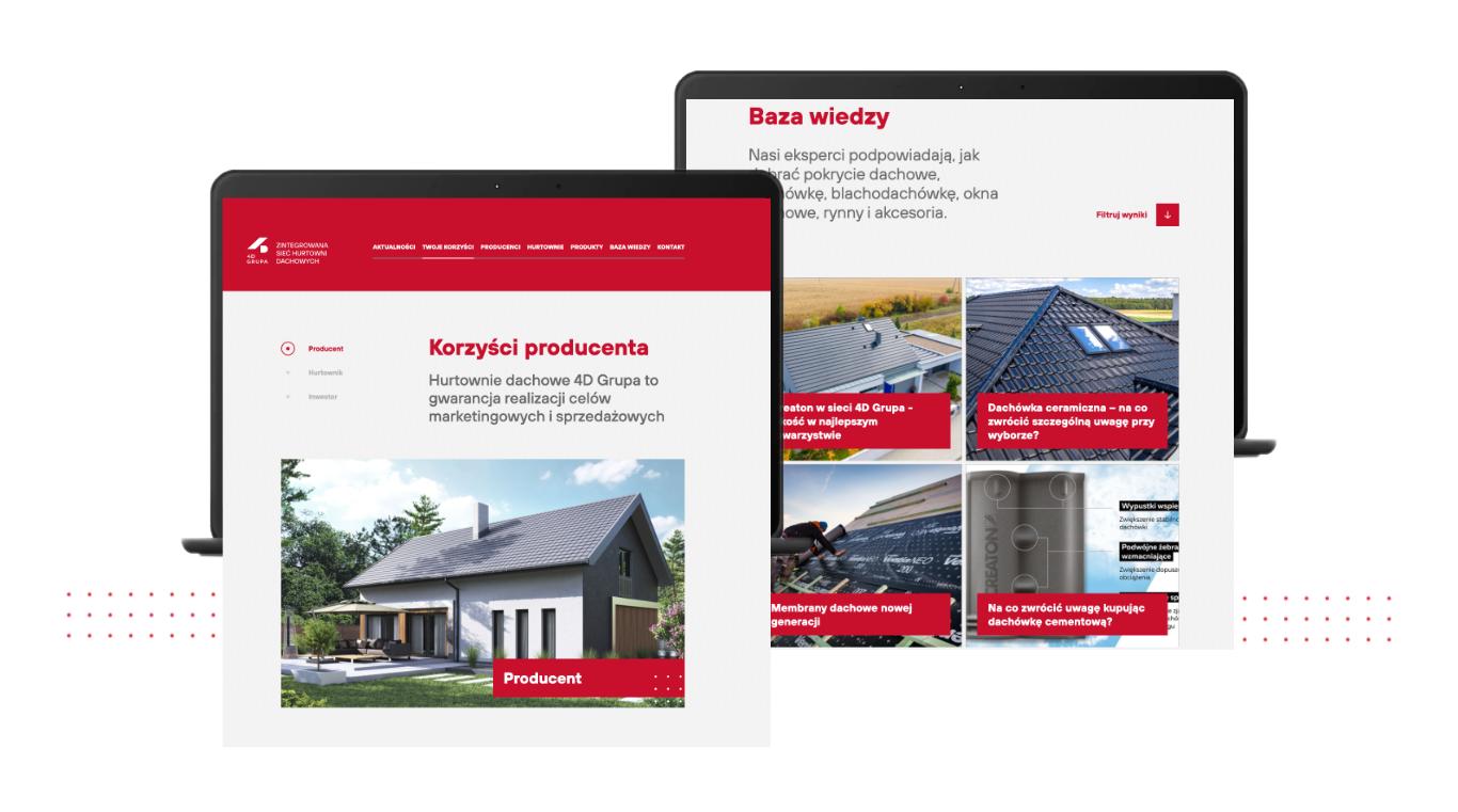 4D Grupa website screens