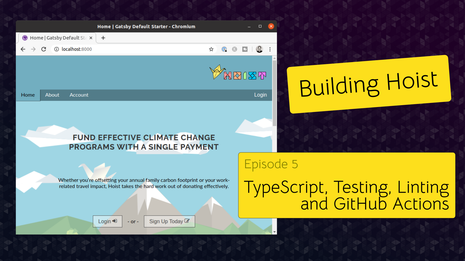 Episode null — TypeScript, Testing, Linting and GitHub Actions